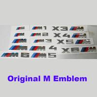 Wholesale black m5 badge resale online - fashion M XM power Motorsport Metal Logo auto emblem Car body Sticker Rear Trunk Emblem Grill Badge for M1 M2 M3 M4 M5 M6 XM3 XM4 XM5