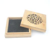бамбуковая квадратная пластина оптовых-Естественный бамбуковый держатель ладана китайская картина квадратная основа ладана для горящей плиты ароматерапии или катушки ладана