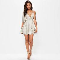 Wholesale Sexy Casual Dresses Plus Size - Elegant Women Asymmetrical Dress Summer Plus Size Sexy Deep v Neck Dress Evening Party Vestido Feminino Casual Clothes 50A0047