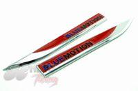 Wholesale Metal Panel Siding - Rhino Tuning 2PC BLUEMOTION Badge Car Fender Sticker For Golf Touran Polo Passat Side Panel Red Metal Car Emblem 433rd