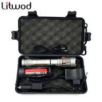 Wholesale 3x Zoom - 2622B LED Flashlight self defence zoom torch tactical XM-L T6 3800LM 5 mode Zoomable light For 3x AAA or 3.7v Battery box