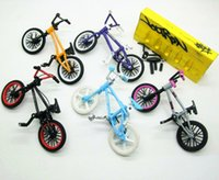 Wholesale Mini Bike Bmx Wholesale - Wholesale-5pcs a set brand new Flick Trix Bmx Finger Bike Alloy model bicycle display set Mini toy for boy collector's pack