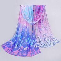Wholesale Chiffon Headscarf - Wholesale-Bufanda From India New 2015 Fashion Design Long Shawl Scarves Leaf Printed Cape Silk Chiffon Tippet Muffler Hijab Headscarf
