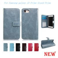 galaxy grand cases frame venda por atacado-Para samsung galaxy j2 prime grand prime virar pu leather case capa case dentro photo slot para cartão de quadro
