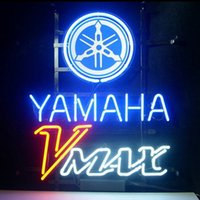 """Wholesale Opening Sign Board - Yamaha V Max Shop Open Neon Sign Company Store Pub Handcrafted Custom Real Glass Tube Advertised Display Neon Signs With Board 17""""X14"""""""