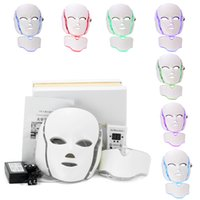 PDT Photon LED Facial Neck Maske Haut Verjüngung Beauty Therapy 7 Farben Lichter für Pigmentation Korrektur