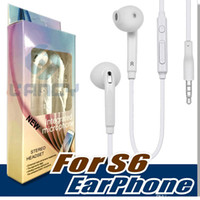 Wholesale Earphone Galaxy Note - Wholesale Free DHL in-Ear headphone For Samsung S6 G920F S6 EDGE G925 For Galaxy S4 S5 Note 4 HEADSET WHITE EO-EG920BW Stereo Earphone