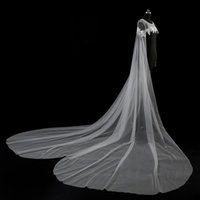 Wholesale Tulle Bridal Capes - 100% Own Design 2017 Real Pictures Newest Style Bridal Cape Jackets Lace Vintage White Ivory Wedding Applique Bolero Bridal Shrug Stunning