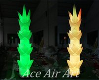 Wholesale bamboo shoots resale online - Colorful Led Lighting Inflatable Bamboo Shoot Decoration for Party Events and Show
