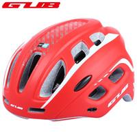 b kaskı toptan satış-GUB Ciclismo Ultralight 19 hava delikleri Bisiklet MTB Dağ Yol Bisiklet Bisiklet Kask Kadın Erkek Entegral kalıplı Visor EPS + PC + B