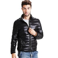 Wholesale Silver Winter Coats For Men - Wholesale- 2016 New Mens 91%-95%White Duck Down Jacket Ultralight Down Warm Coat for Winter P5056