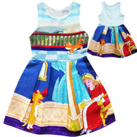 Wholesale Girls Pussy - Girl child pussy cat Princess lapel dress Children high quality cartoon mouse sleeveless vest dresses clothes 2-10 years B001