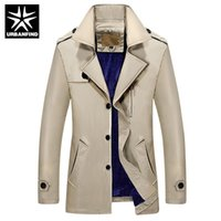 Wholesale winter trench coat big men - Wholesale- URBANFIND 2016 New Arrival Fashion Men Winter Style Cotton Trench Thicker Keep Warm Jacket Coat Outwear Big Size M-4XL