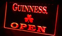 Wholesale Shamrock Light Sign - LS452-b Guinness Shamrock OPEN Neon Light Sign Decor Free Shipping Dropshipping Wholesale 6 colors to choose