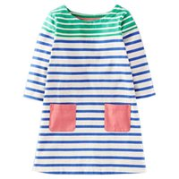 Wholesale fall girl clothes for sale - Group buy Europe Fashion Striped Kids Dresses Fall Long Sleeve Party Dress American Style Girls Dress Clothes with Pocket