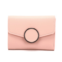Wholesale Yellow Wallets For Women - 2017 New Women Mini Wallet Circle Decoration Short Purse Many Colors for Choose Female