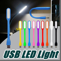 Wholesale Usb Led China Free Shipping - USB LED Lamp LED Light Portable Flexible Bendable Xiaomi USB Light for Notebook Laptop Tablet Power Bank USB Gadets L301 Free Shipping