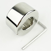 Wholesale Stainless Steel Cbt - 980g heavy stainless steel Scrotum Stretchers Scrotum ring metal Locking Hinged Ball Stretcher Weight for CBT Chrome Finish