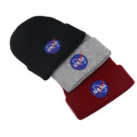 Wholesale Astronaut Adult - Letter NASA I NEED MY SPACE Winter Hats For astronaut Men Beanie Woman Caps Warm Skullies Beanies Men'S Winter Hat Knitted Hat Female Cap