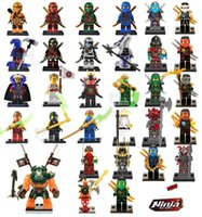 Wholesale Ninja Plastic Building Blocks Toys - 31pcs Ninja figures marvel super heroes minitoy go building blocks figures bricks toys action figure