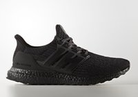 Wholesale 2017 With Box ultra boost triple black running shoes hot sales Store the best Original version boost sneaker CG3038