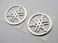 Wholesale Yamaha Tank Decals - 2pc 50mm Tuning Fork Tank Fairing Emblem Decal Sticker For Yamaha 3D Racing Moto