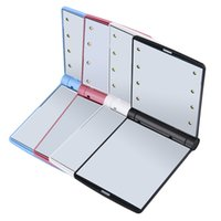 Wholesale Touch Screen Dimmers - Most Popular Pocket LED makeup HD mirror with 8 led lights and Touch Screen smart dimming