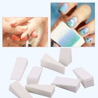 Wholesale Images Drawings - 8Pcs Set Triangle Nail Art Polish Gradient Color Stamping Drawing Paintings Sponge Image Transfer Manicure Kit