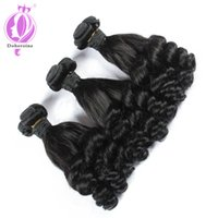 Wholesale tangle free hair weave - Aunty Funmi Bouncy Curls Deals 10-28 inch Brazilian Human Hair Weave 3 Bundles no shedding no tangle free shipping