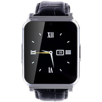 Wholesale remote control viewing - Hot W90 Bluetooth Smart Watch Men Luxury Leather Business Smartwatch Knight Full View HD Screen for IOS Android Phones