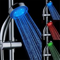 Wholesale Led Shower Light Control - 7 COLOR LED SHOWER HEAD ROMANTIC LIGHTS WATER HOME BATH - Xmas day Color: 7 Colors Automatic Control Shower Head Model