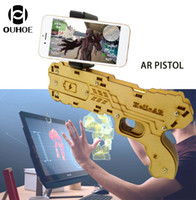 Wholesale Diy Smartphone - AR Gun Augmented Reality Gaming Gun Support Smartphone Shooting Games DIY Toy Gun for Android iOS Phones Portable Children Gift