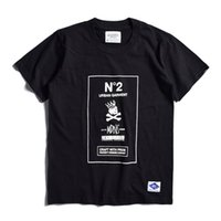 Men black madness - NBHD Factory Direct Sale Madness Print short sleeve T shirt Teenager Casual Loose Tees Men s Black White Casual T Shirts
