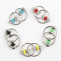 Wholesale fidget spinner colors resale online - Key Ring Fidget Spinner Gyro Hand Spinner Metal Toy Finger Keyring Chain HandSpinner Toys For Reduce Decompression Anxiety Colors