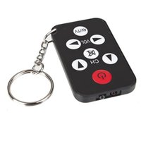 Wholesale mini tv remote keychain resale online - Mini Universal Infrared IR TV Set Remote Control Keychain Key Ring Keys Television Controller Free DHL