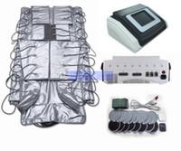 máquinas de massagem muscular venda por atacado-3 em 1 máquina de pressoterapia calor infravermelho emagrecimento roupas envoltório pressão massagem circulação sanguínea EMS Estimulação Muscular Elétrica