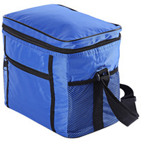 box table cloth UK - Multi-functional Cloth Insulation Cooler Box Travel Picnic Ice Bag Picnic Ice Bag Cloth Double-deck Insulation Cooler Box Hiking Camping +B
