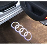 Barato Luzes Projetor Porta Para Carros-LED Car Door Welcome Light Laser Porta de carro Shadow Led Projetor Logo para AUDI A3 A4 B6 B8 A5 A6 C5 A7 A8 R8 Q5 Q7 TT Sline 8q A1