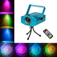 Wholesale 3w Green Laser - Lightme Projector Laser Outdoor 3W RGB LED Water Ripple Projector Club Stage Lights Party Dj Disco Lights Holiday Stage Lamp
