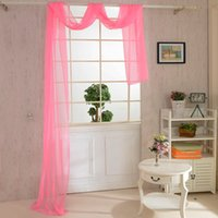 Camera Floral Tulle Windows Tende Drape Panel Sheer Scarfs Valances Decal 80cm * 550cm ZX1