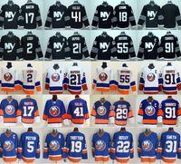 Wholesale Leddy Jersey - New York Islanders Hockey Jerseys Ice 91 John Tavares 2 Leddy 17 Matt Martin 21 Okposo 41 Jaroslav Halak 55 Johnny Boychuk Blue