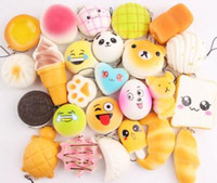 Wholesale Cheap Wholesale Soft Toys - Wholesale Kawaii Squishy Rilakkuma Donut Soft Squishies Cute Phone Straps Bag Charms Slow Rising Squishies Jumbo Buns Cheap Charms