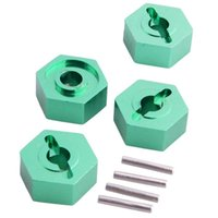 Wholesale Hsp Rc 16 - RC HSP 286042 (86065) Green Alum Wheel Hex Mount 4PCS For HSP 1:16 Buggy Truck
