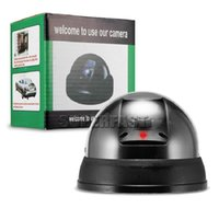 Wholesale Dummy Dome Security - Dome Dummy IR Camera Waterproof Outdoor Security CCD Camera Fake CCTV Camera with Retail Package