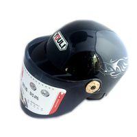 Wholesale Cover Ventilation - Summer Motorcycle Half-covered Helmet cool Flame Style Safe Helmet Ventilation Breathable Bright Surface Helmet Four Seasons General
