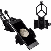 Wholesale Microscope For Android - Phone Mount Holder - Telescope Spotting Scope Microscope Binocular Monocular Spotting Scope for iPhone Android Cellphone Adapter