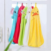Wholesale Microfiber Cartoon Kitchen Hand Towel - Cute Animal Absorbent Towels Microfiber Quick Dry Kids Hand Towels Children Cartoon Hand Dryer Lovely Towel for Kitchen Bathroom