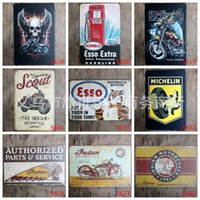Wholesale Aluminum Clocks - Classical 20*30cm Vintage Metal Tin Sign Indian Motorcycle Company Frameless Tin Posters Performance Motoring Iron Painting Arts 3 99rjZ
