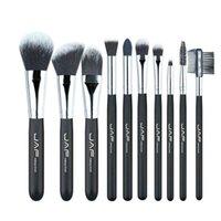 cepillo de fibra de nylon al por mayor-JAF Fashionable 10 piezas Cosmetic Makeup Brush set Profesional Soft Taklon Fiber Make Up cepillos Tool Kit J10NNS