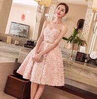 cor de pêssego vestido de baile venda por atacado-Navio rápido da Imagem Real cor Peach curto Vestidos de Baile 2019 Novas Meninas Vestidos de Festa ROBE de Soiree